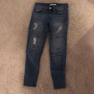 KanCan Ripped Moto Jeans